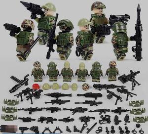 ロシア軍6体 武器つきセット 戦争軍人軍隊マンミニフィグ LEGO 互換 ブロック ミニフィギュア レゴ 互換t26