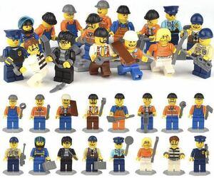 16体セット 警察 職人 泥棒 ミニフィグ LEGO 互換 ブロック ミニフィギュア レゴ 互換 q