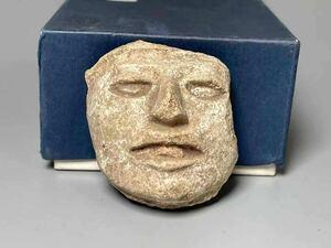 希少 仏教美術 仏 彫刻 土器 レリーフ 石仏 仏像 釈迦 仏陀 サイズ約5.5×4.8×h3cm造形 マヤ 石仏 敦煌 中国 古美術 時代