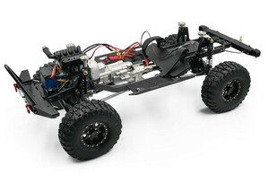 送料無料 エクストラスピード フルカスタムシャーシ V8エンジン 2速ギア ポタールアクスル アキシャル トラクサス タミヤ scx10 trx4