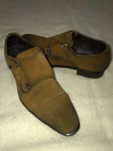 マドラス madras 日本製 GORE-TEX 本革スエードレザー モントストラップシューズ 靴 24.5cmEEE 茶 メンズ 男性 紳士用