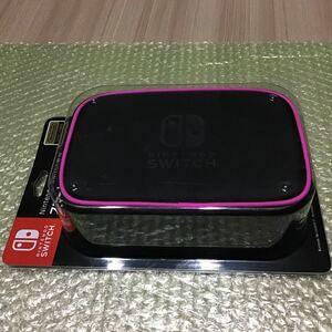 Nintendo Switch専用スマートポーチコンパクト ピンク 新品 キャリングケース ニンテンドースイッチ 任天堂