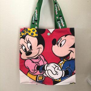 ハンドメイドバッグ トートバッグ 紙袋風バッグ お散歩バッグ ランチバッグ ミキミニ ディズニー