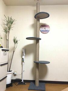 キャットタワー 猫 木製木登り 爪とぎ 高さ232-251cm 在宅応援赤字価額