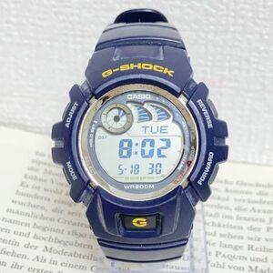 ★CASIO G-SHOCK デジタル 多機能 メンズ 腕時計 ★ カシオ G-ショック G-2900 アラーム クロノ タイマー ネイビー 稼動品 F4308