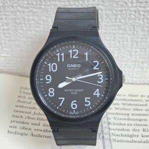 ★ CASIO メンズ 腕時計 ★ カシオ MW-240 3針 ブラック 稼動品 F4370