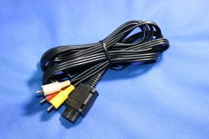 動作品 HORI AVステレオケーブル SHVC-008 互換 黒 純正よりケーブルが長い Newファミコン スーパーファミコン ゲームキューブ N64