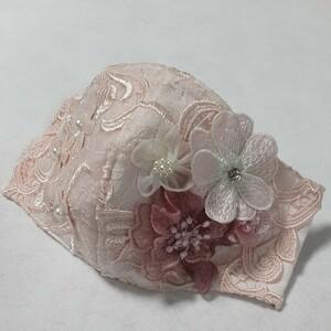 pink.pink ハンドメイドお花モチーフレース立体インナー