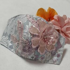 pink.pinkハンドメイドお花付きレース立体インナー