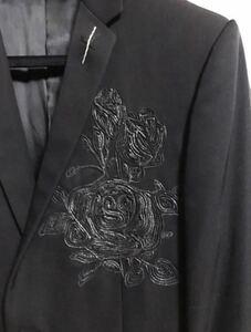 Dior homme 18aw バラ刺繍 テーラードジャケット 最終値下げ