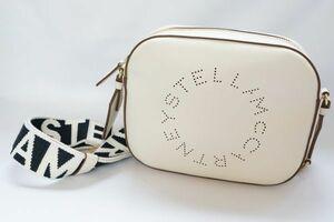 STELLA MCCARTNEY ステラマッカートニー ミニ カメラ ショルダーバッグ ロゴ ホワイト 557907 W8542 AU19 210525MT