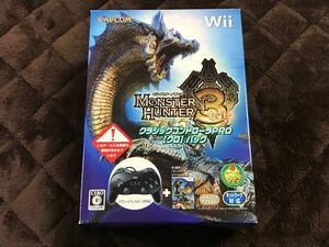 Wii モンスターハンター3 クラシックコントローラ PRO 【クロ】パック 新品