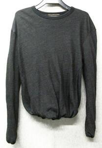 ワイズ フォーメン ヨウジヤマモト:変形デザイン ウール カットソー ( ロンT レア Y's for MEN Yohji Yamamoto Wool Long Sleeve Tee