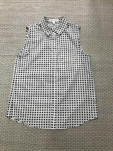 美品★Finders Keepers★ノースリーブシャツ 幾何学模様 ドット インポート オーストラリア