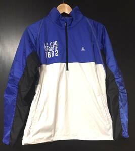 【即決】美品!! le coq sportif GOLF COLLECTION ルコック メンズ Lサイズ 2Way ハーフジップジャケット 消費税なし 迅速発送 早い者勝ち