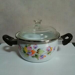 両手鍋 花柄 調理器具