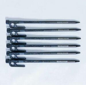 スノーピーク ペグ 20cm 6本セット ソリッドステーク20 R-102
