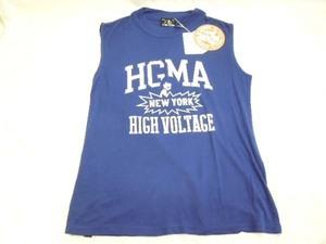 ヒステリックグラマー HYSTERIC GLAMOUR トップス Tシャツ 袖なし ブルー フリーサイズ タグ付 未使用品 ■
