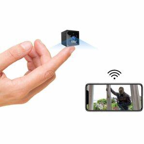 小型カメラ WiFi 4K HD高画質超小型カメラ スマホ対応Wi-fiマイクロカメラ 長時間録画/録音ワイヤレス監視カメラ