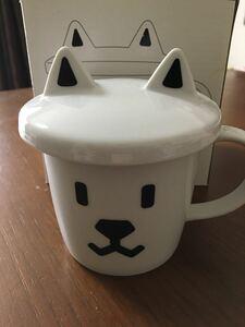 マグカップ お父さん犬 コップ ティーカップ 未使用 蓋付き お父さん ソフバン