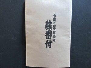 123 相撲 令和三年 夏場所 絵番付
