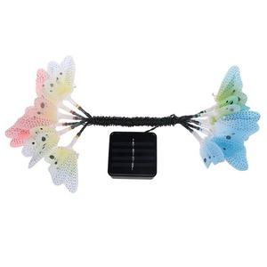 ★1円スタート★LED ガーデンライト バタフライ 蝶々 カラフル 屋外 イルミネーション ライト 照明 AT12504
