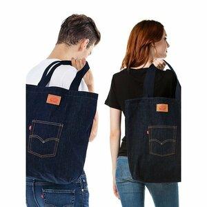 Levi's LEVIS リーバイス デニム トートバッグ 新品 bag ジーンズ エコバッグ かばん ショルダー リュック 手さげ 綿100%
