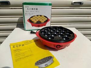 [値下げ]激安!1円即決!EUPA ユーパ たこ焼き器 TK-2162T 箱説明書付き 通電確認済み up