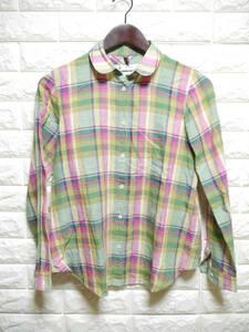 A200 ◇ KUMIKYOKU KLASIKINE | クミキョク 長袖シャツ チェック 中古 サイズ1