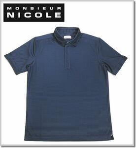 ムッシュニコル MONSIEUR NICOLE ZIPポロシャツ 1262-9500-67(NAVY)-48(L) 半袖ポロシャツ カットソー