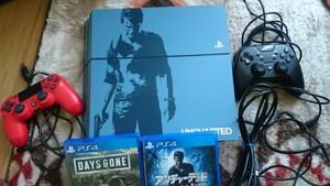 PS4本体   アンチャーテッドデラックスエディション ソフト2枚