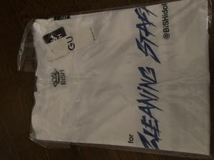 新品 BiSH ビッシュ GUコラボ CLEANING STAFF Tシャツ Mサイズ 白 アイナ・ジ・エンド