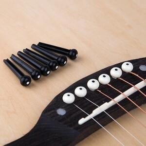 U1079:6本 ギター ブリッジピン クラシックスタイル アコースティック 6弦 ギター ミュージカル 弦楽器 アクセサリー