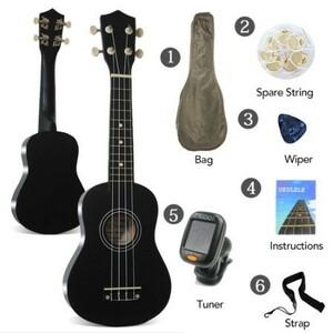 U1074:21インチ ソプラノ ウクレレ ローズウッド アコースティック ナイロン 4弦 ベース ギター 初心者 楽器