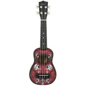 U1067:21インチ 15フレット ソプラノ ウクレレ 4ナイロン弦 バス ウッドギター ドルフィンパターン ユニバーサル アコースティック 楽器