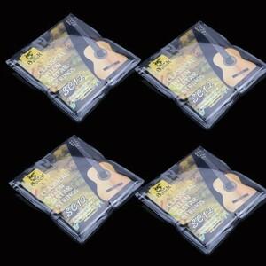U1252:6ピース クラシック ギター 弦 6弦 ナイロン シルバーメッキ 超軽量 アコースティック 楽器