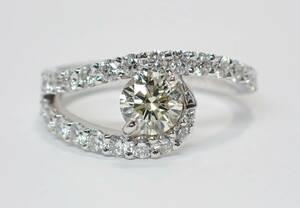PT900 ダイヤリング ダイヤ 1粒 0.52ct 0.65ct 新品仕上げ済み 10.5号 指輪 ユーロサイズ 51 プラチナ リング