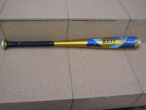 送料無料 ZETT ゼット 金属バット 少年軟式用 低学年用 BAT75720 SWINGMAX 410g 70cm 中古