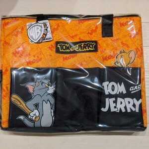 トムとジェリー★BIG保冷レジカゴバッグ エコバッグ 30L オレンジ