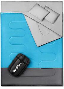 寝袋 二人用 【解体*連結可能&一人*二人利用可能】 防水シュラフ 封筒型