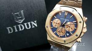 【送料無料】約2日で到着♪ DIDUN DESIGN クォーツ 正規品 メタルバンド 高級腕時計 クロノグラフ オマージュウォッチ noob JF