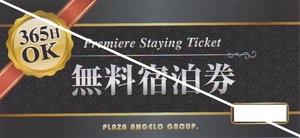 匿名配送対応 ホテルペア無料宿泊券 365日いつでも使える 土・日・祝前日・祝日利用可 ラブホ ラブホテル プラザアンジェログループ 大阪