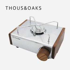 KOVEA THOUS&OAKS コベアキューブ専用 側板+ダイヤルキャップ 木製 カスタムパーツ アウトドア BBQ キャンプ