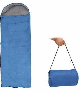 寝袋 封筒型 170T防水 キャンプ スリーピングバッグ 0.71kg