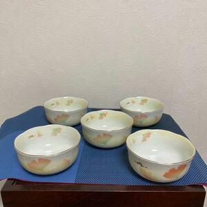 小鉢5個セット イチョウ 木箱