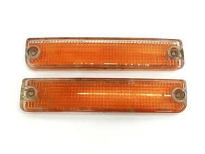 _b61180 マツダ サバンナRX-7 E-FC3S フロントバンパー ウィンカー レンズ (1) ライト ランプ 左右 LH RH STANLEY 045-0663 FC3C