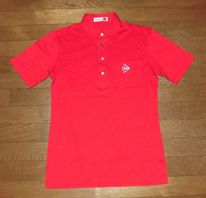DUNLOP ダンロップ 当時物 スポーツシャツ 旧マーク 刺繍 RED M デッドストック 未使用品/旧車ハコスカ暴走族ケンメリGT-R街道レーサーRX-7