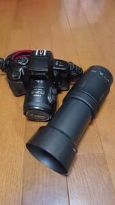 ◆ 一眼レフ カメラ キャノン CANON EOS700QD 望遠レンズ付 USED ジャンク ◆