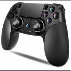 「最新版 」 PS4 コントローラー 無線 Bluetooth HD振動 ゲームパット搭載 LED 高耐久ボタン