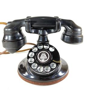 -実働品- 1920's USA アンティーク 電話機/バー/店舗什器/ランプ/ビンテージ/デスク/o.c.white/gras/黒電話/映画/rrl/古着/sweet orr/照明